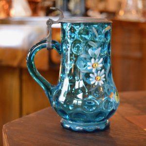 Modrý starožitný korblík
